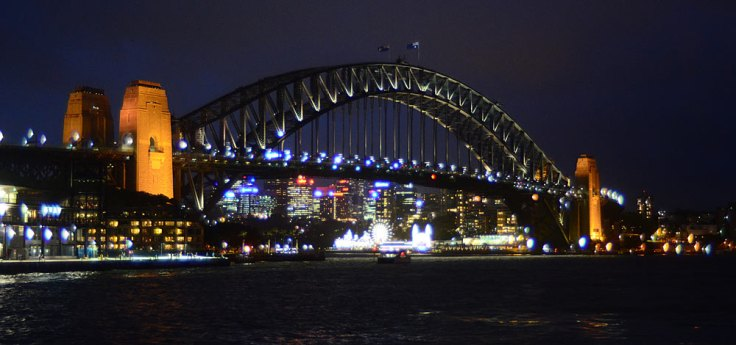 banner-harbor-bridge-night
